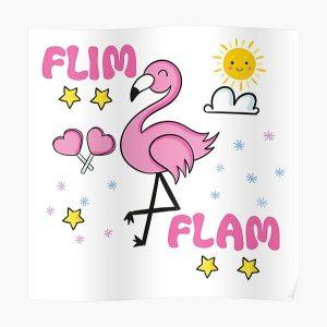 Flim flam flamingo Poster RB0106 product Offical Flim-Flam Merch