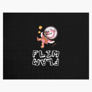 Flim flam flamingo Space Jigsaw Puzzle RB0106 product Offical Flim-Flam Merch