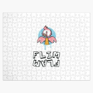 Flim flam flamingo youtube Black and white Jigsaw Puzzle RB0106 product Offical Flim-Flam Merch
